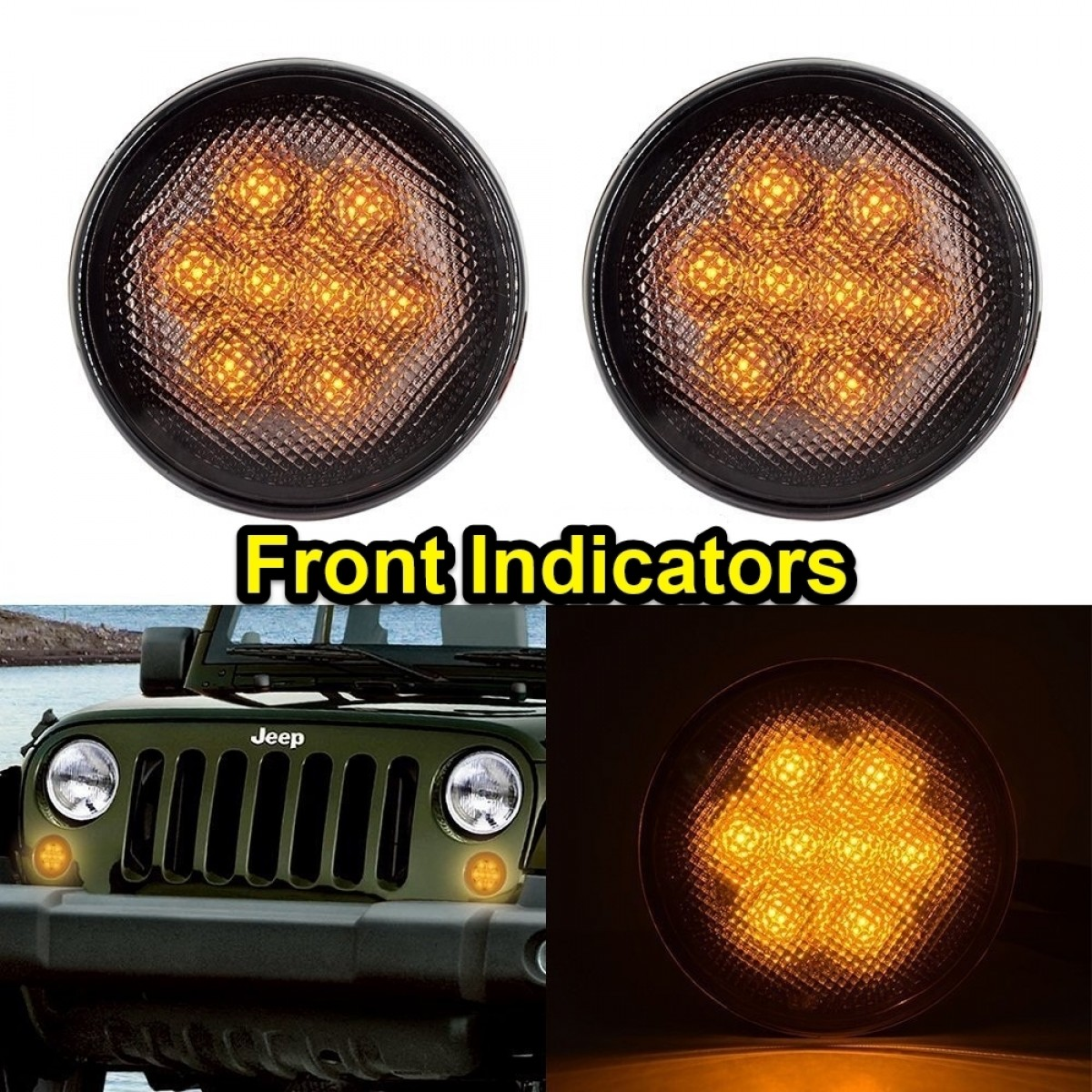 Tinted Front Indicator Lights