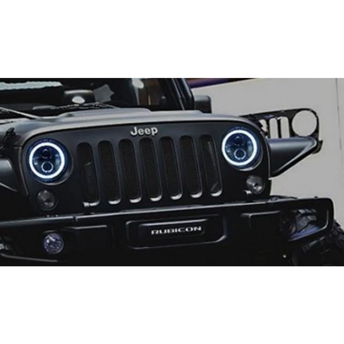 Halo Lights For Jeep Wrangler >> 7 Cree 60 Watt Halo Headlight