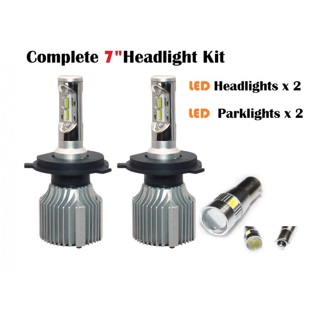 Jeep Wrangler Led Upgrade Kit Light Bulbs Headlight