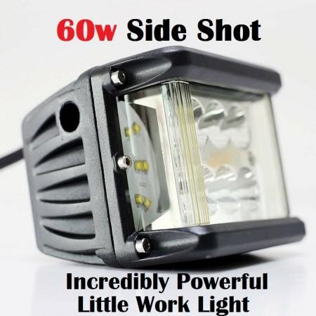 60W SUPERBRIGHTS SIDE SHOT WORK LIGHT