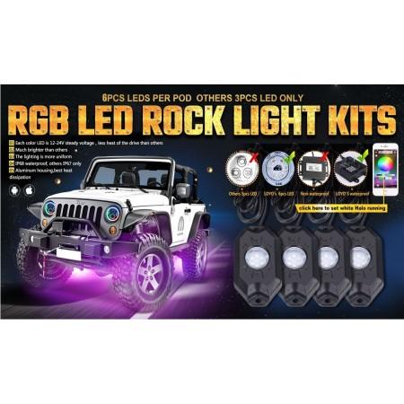RGB Rock Lights 4 Pods