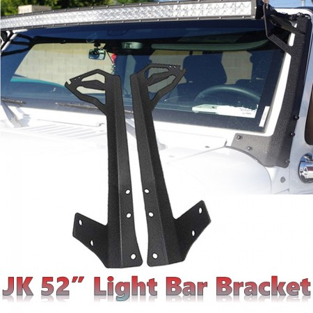 "Jeep Wrangler JK 52"" Light Bar Bracket - Brahman Series"