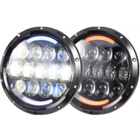 JEEP JK-TJ LED HEADLIGHTS  the OSRAM 105W