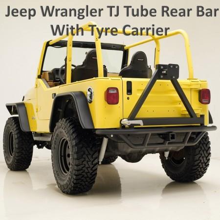 Jeep Wrangler TJ 97-06 Tubular Rear Bar with Tyre Carrier