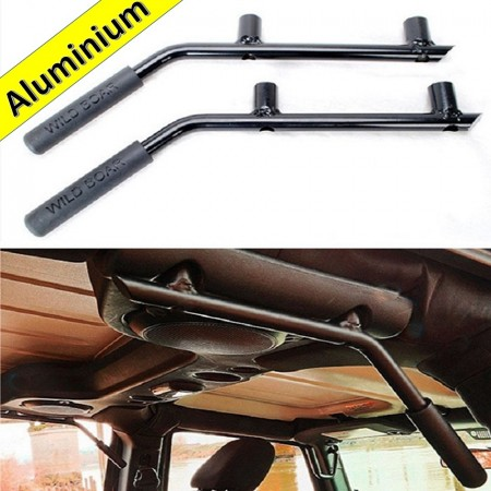 Aluminium Grab Handles - REAR  BLACK