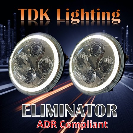 7 inch Eliminator Headlight- suits Jeep JK,TJ, GQ Patrol, Landrover Defender, Toyota Landcruiser, Mercedes G Wagon