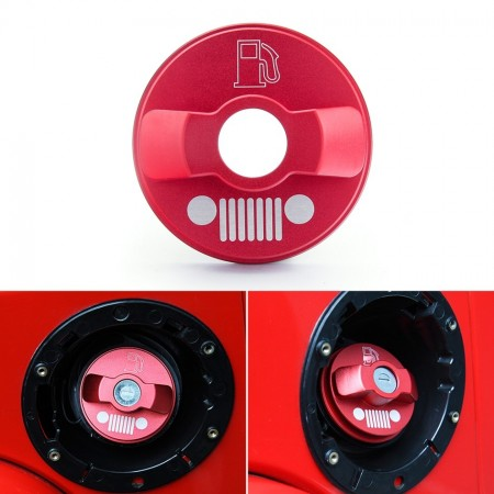 JK Wrangler Alloy Fuel Cap Cover