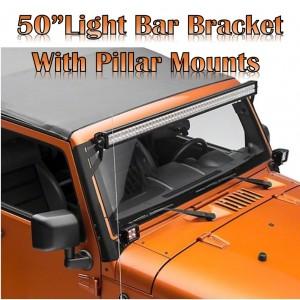 "Jeep Wrangler JK  2007-2018    50"" Light Bar Bracket with pillar mounts  - Brahman Series"