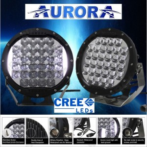 "9"" Driving Lights by Aurora"