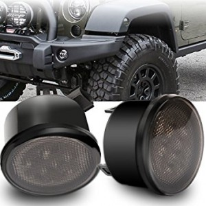 Jeep Wrangler JK Tinted Front Indicator Lights fits 2007-2018