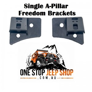 Jeep Wrangler JK Single A-Pillar Freedom Bracket