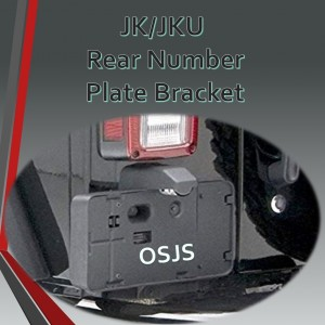JK/JKU Rear Number Plate Relocation Kit