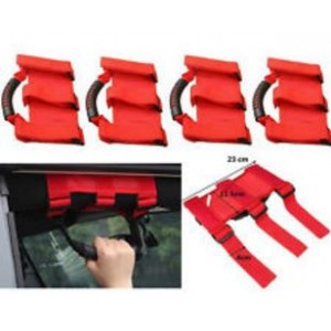 Jeep Wrangler Rollcage Handle - RED