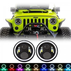 "7"" Headlight RGB Osram Headlights"