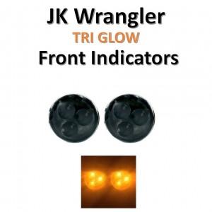 Jeep Wrangler 2007-2018 Front Indicators LED  -  JEEP WRANGLER TRI GLOW