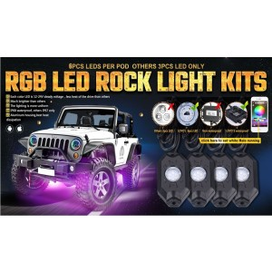 RGB Rock Lights 4 Pods