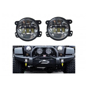 "Jeep Parts 4"" LED Fog Lights"