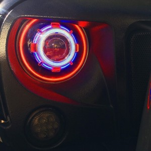 Jeep Wrangler LED 7 inch Starry Headlight Gen 1