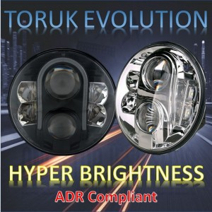 "Jeep Wrangler LED Headlights; The Mighty  7"" TORUK EVOLUTION"