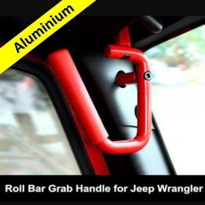 Aluminium Grab Handles - FRONT RED