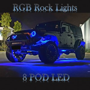 RGB Rock Lights 8 Pods