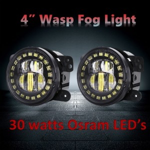 JEEP WRANGLER JK 4 INCH FOG LIGHT- WASP