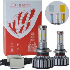V18 Led Headlight Replacement Bulbs Suits Jeep, Patrol, Landcrusier
