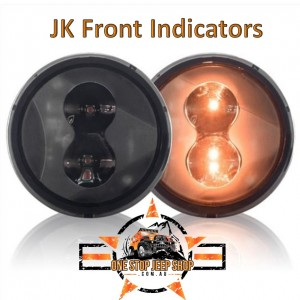 Jeep Wrangler JK Dark Smoked Front Indicator Lights