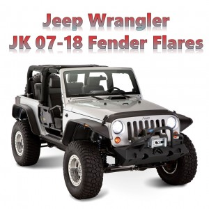 Jeep Wrangler JK Widebody 2007-2018 Wheel Arch Black Fender Flares ABS Off Road Kit