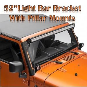 "Jeep Wrangler JK  2007-2018    52"" Light Bar Bracket with pillar mounts  - Brahman Series"