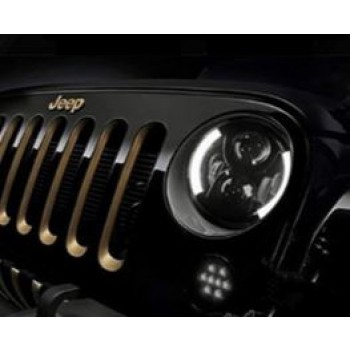 "7"" Angel Eyes Halo LED Headlights"